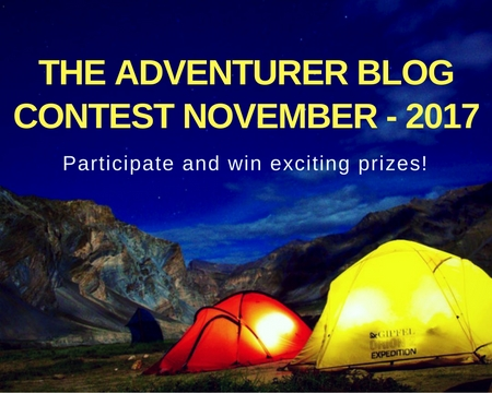 The adventurer Blog Contest : Nov - Dec (2017)