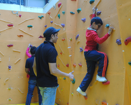 Climbing Walls and Workshops at School