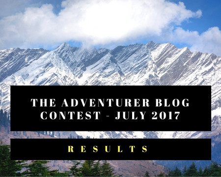 The Adventurer Blog Contest July 2017 Results