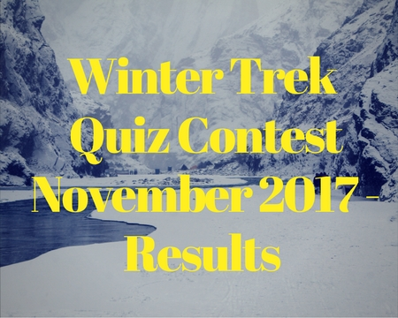 Winter trek quiz contest - November 2017 - Results