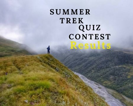 Summer Trek Quiz Contest April 2018 Results