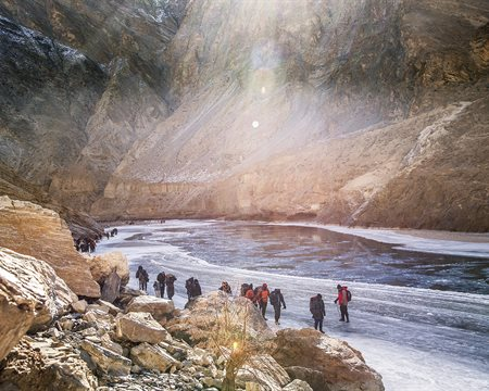 What are the dangers involved on Chadar Trek?